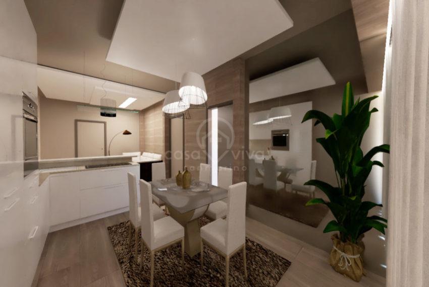 Reendering soggiorno e cucina