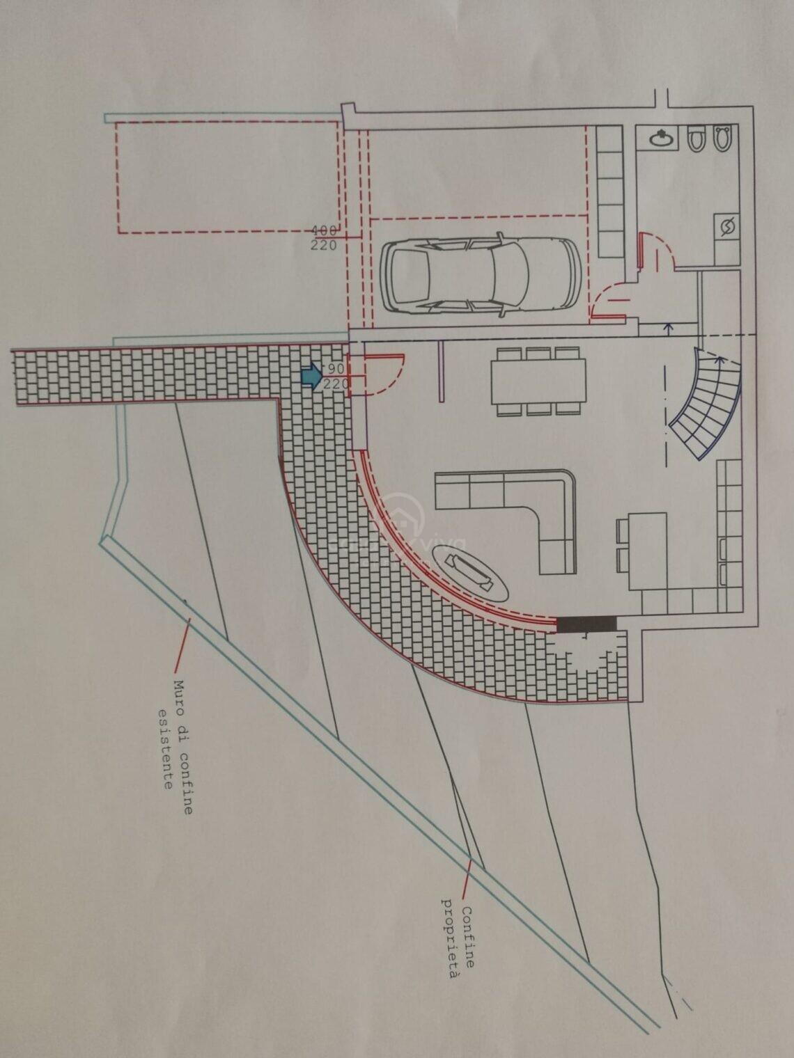 Chiesanuova: progetto di villetta su due piani ...