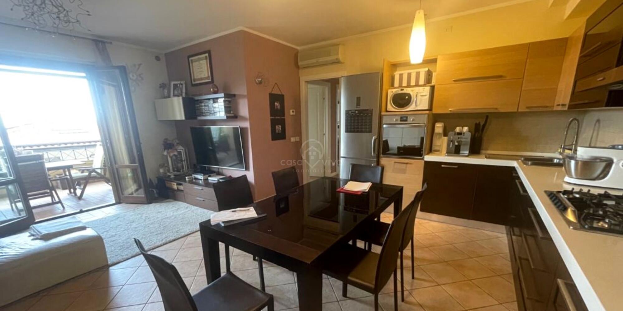 Borgo Maggiore: spazioso appartamento di 89mq, zona tranquilla e splendida vista